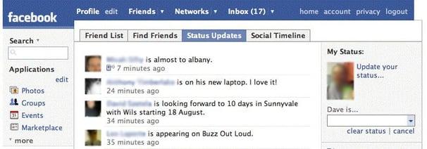 Facebook 2007 posting