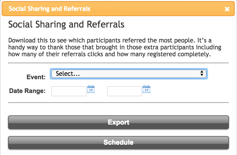 imATHLETE Social Sharing and Referral Report Request