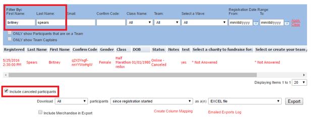 Search Participant Details