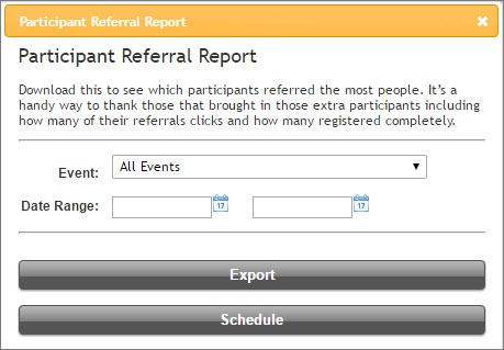 Participant Referral Report