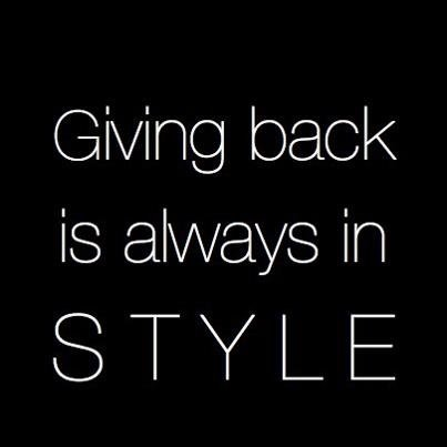 Giving back is always in style