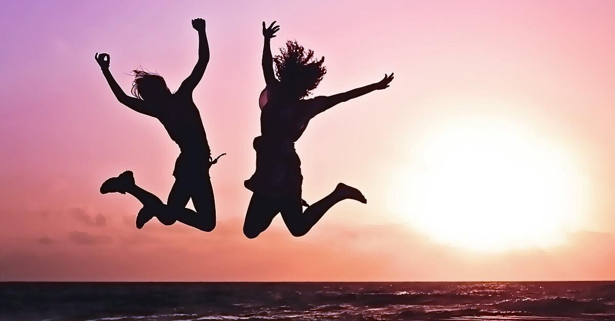 jumping athletes