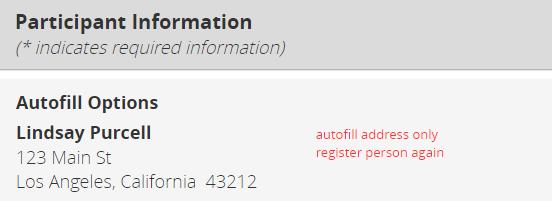 autofill address